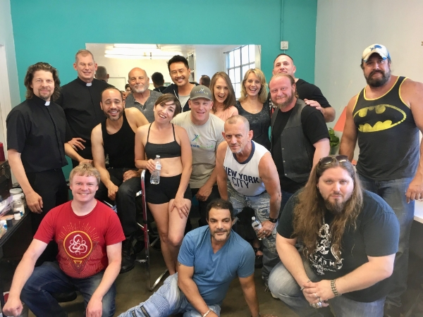 In the Before Times, the cast + crew of Preacher Six posed for a happy pic!