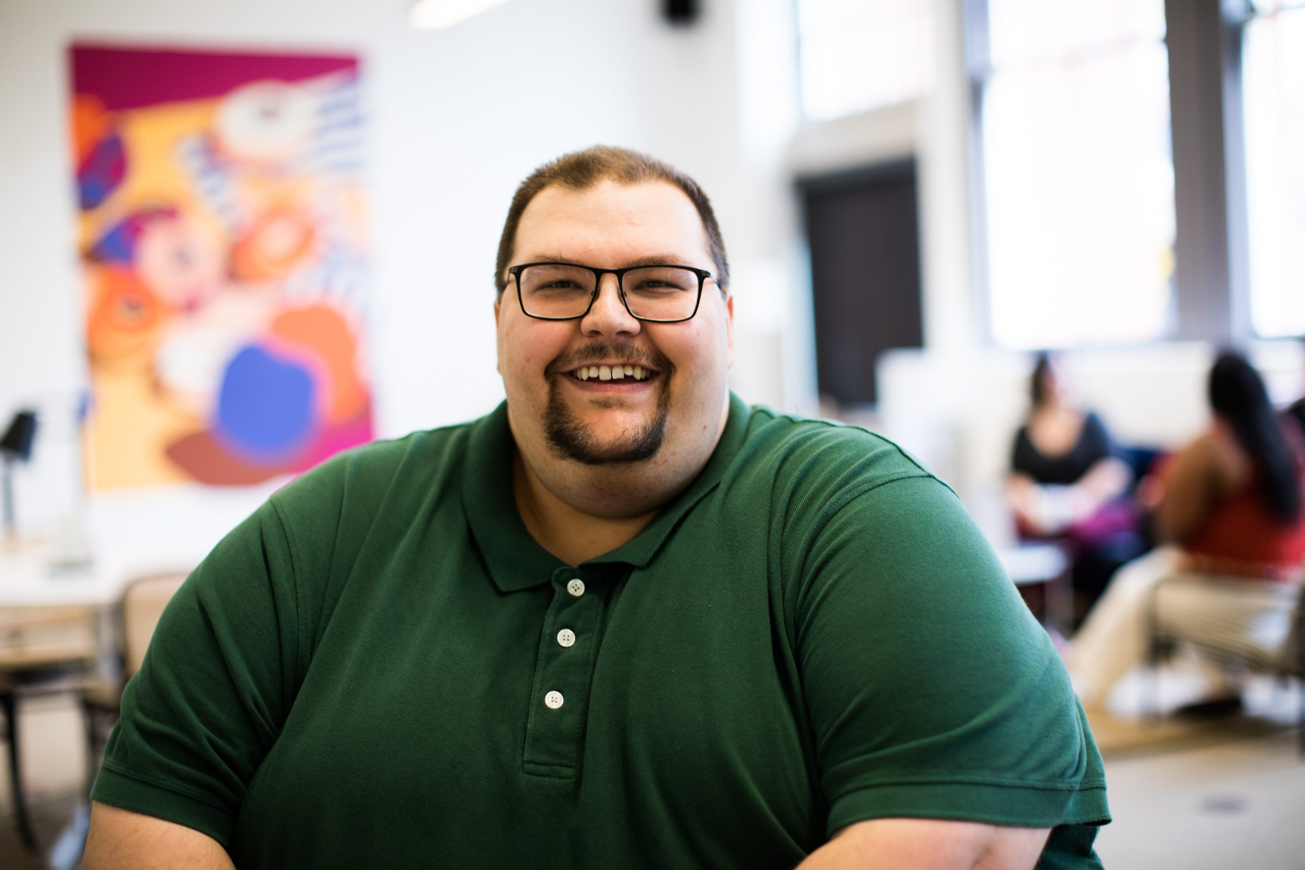 plus size man great smile