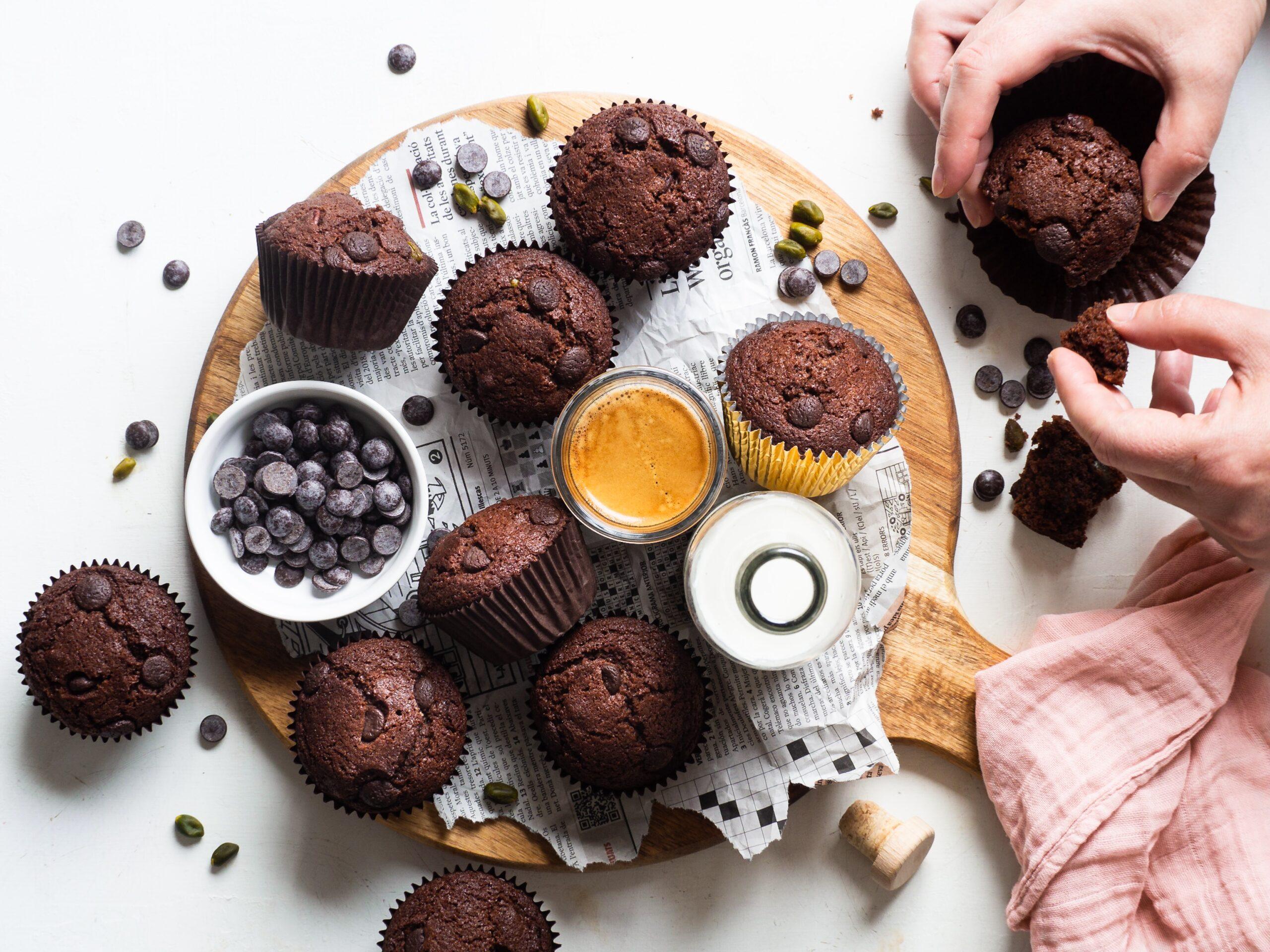 eating snacks cupcakes