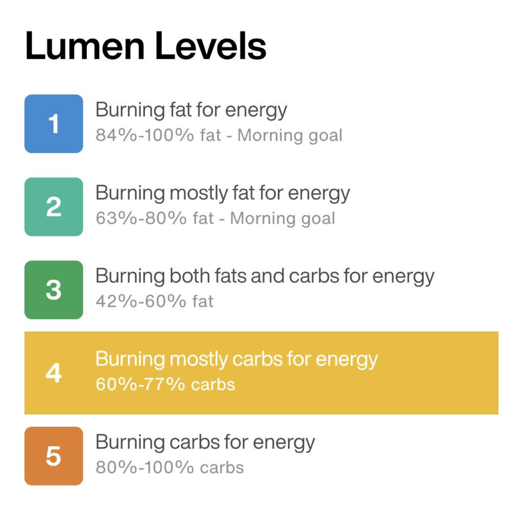 lumen level 4 carb burn