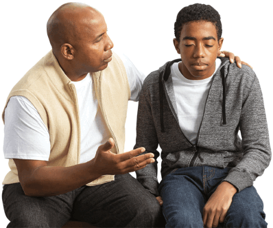 young boy with a psychiatrist