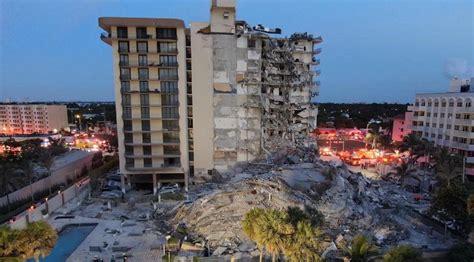 condo building partially collapses near Miami