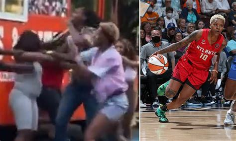 WNBA players were caught throwing punches