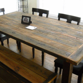 Farmhouse Table and Benches