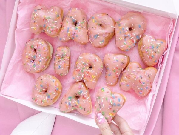 Letter (Alphabet) Donuts in Toronto from Machino Donuts image credit @karleykosmos