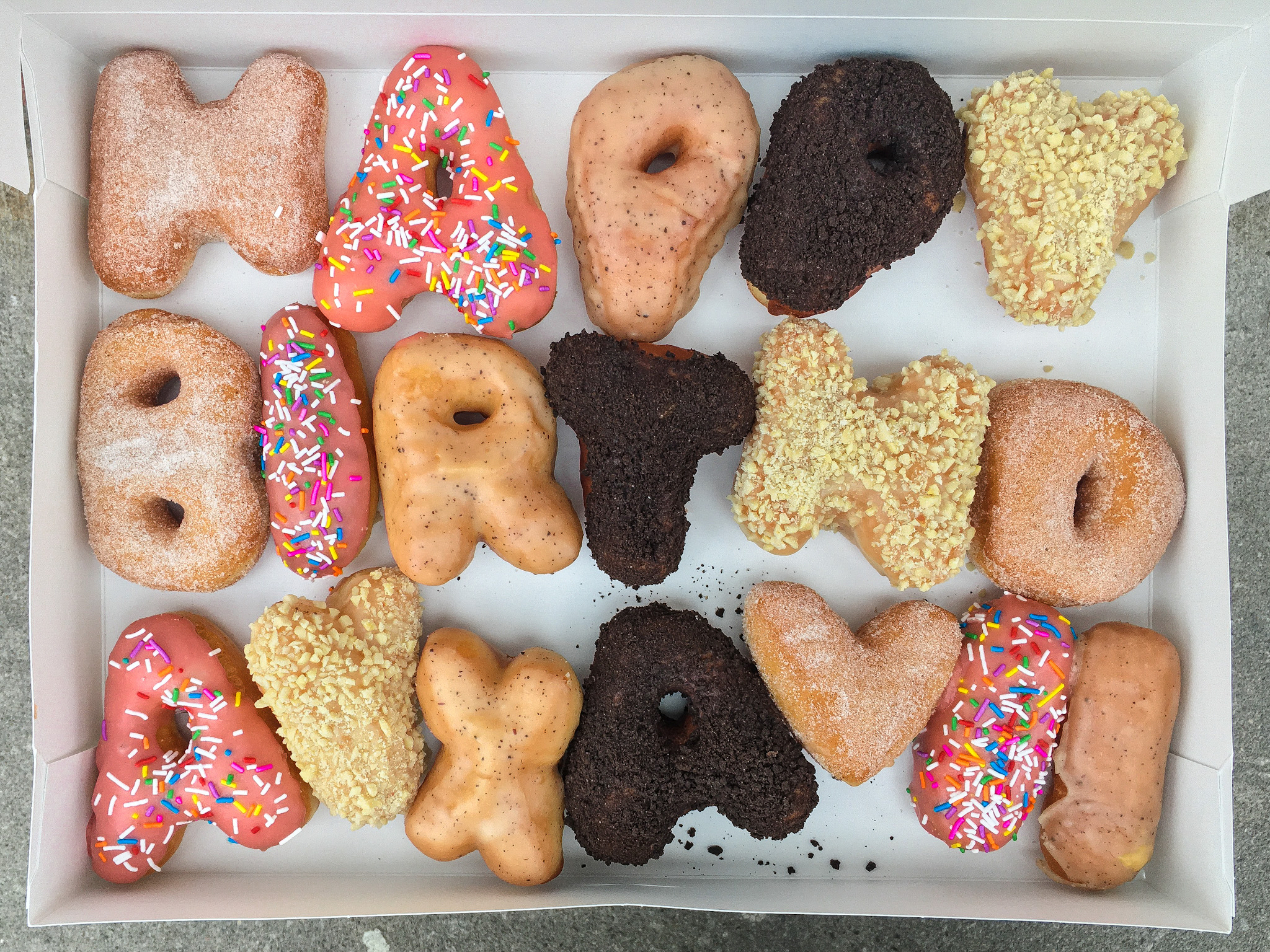 letter (alphabet) donuts in Toronto from machinodonuts