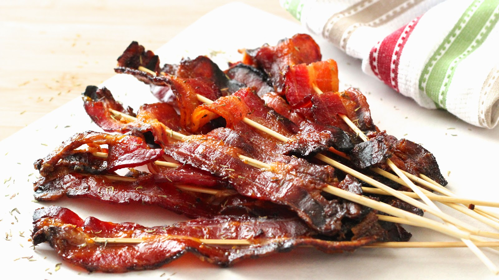 Apricot Thyme Glazed Bacon Sticks from InGoodFlavour