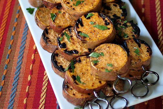 Grilled Sweet Potatoes by The Yummy Life