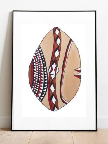 Maasai Shield Art Print