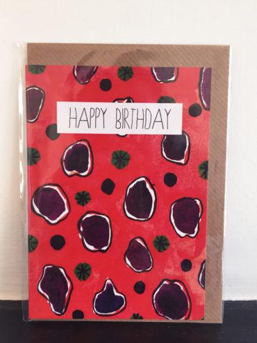 NASTURTIUM LEAF BIRTHDAY CARD