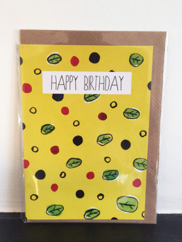 CITRUS LEAF PRINT BIRTHDAY CARD