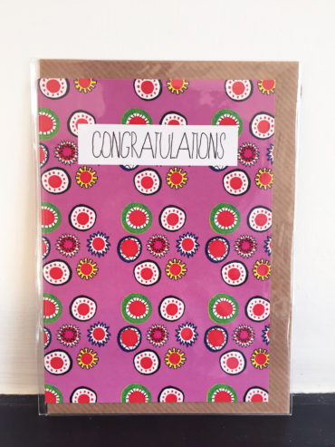 DOTS AND STARS CONGRATULATIONS CARD