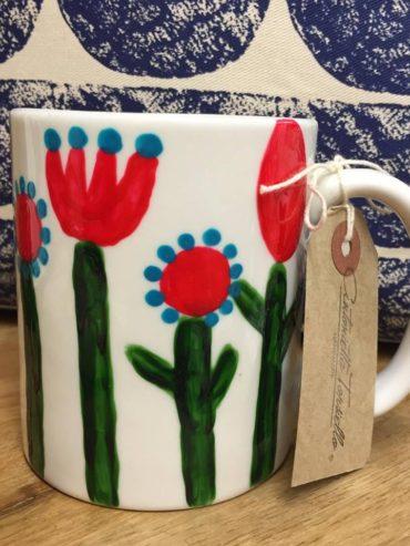 Floral hand painted mug