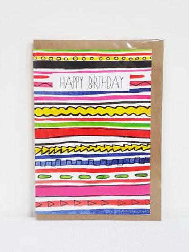 Neon Birthday Card