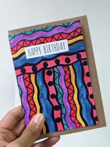 Wavy Birthday Card