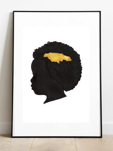 African Girl Framed Art