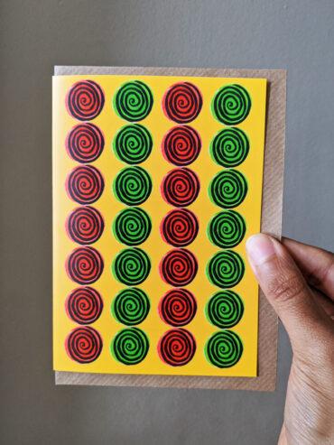 Ankara Cloth Greeting Card