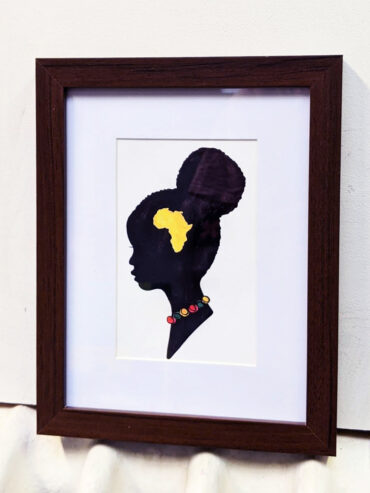 African Girl Framed Art