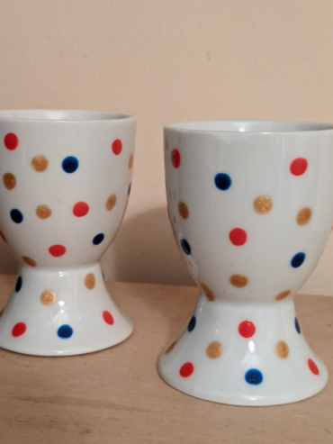 Navy, Red, Gold Egg Cups
