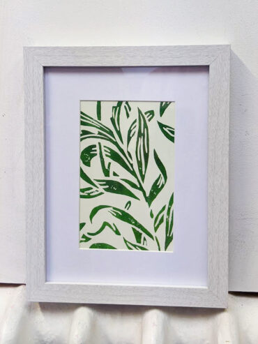 Vine Leaves Framed Art