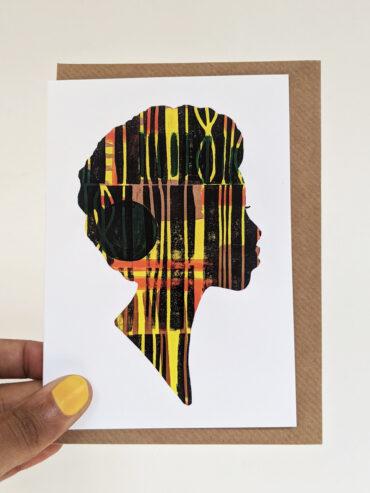 Regal Woman Greeting Card