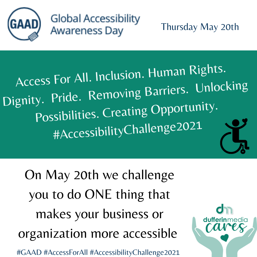 Accessibility Awareness Day Challenge Graphic