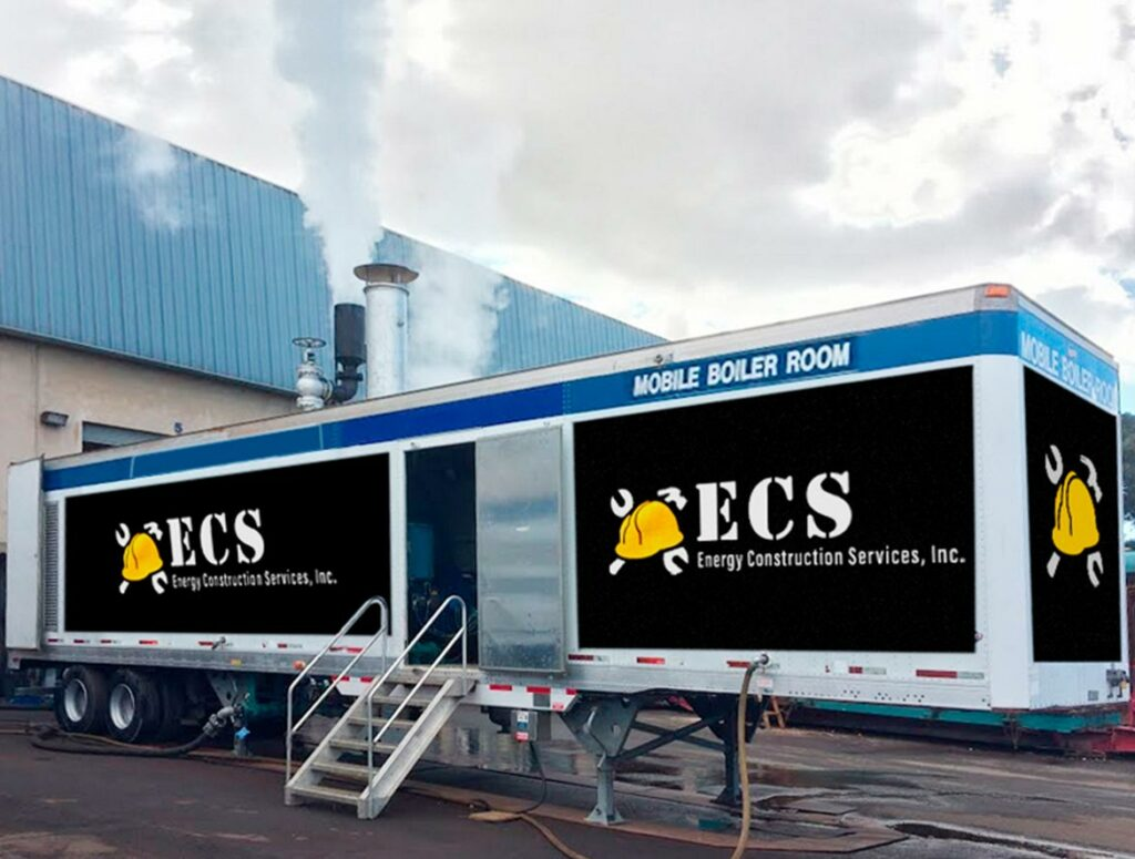 Services - Mobile boiler room - Energy Construction Services Inc. Boiler Rental