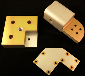 (Anodized and Alodined parts with specialty masking)