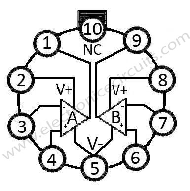 741-dual-op-amp-to-style-pin-configurations-top-view