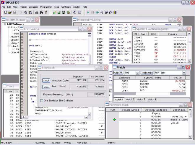 MPLAB PIC Microchip Software Integrated Development Environment