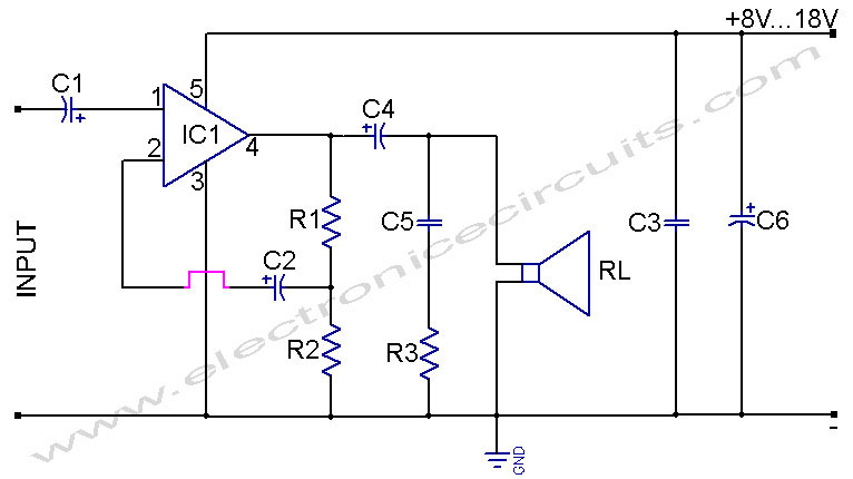 tda2002 tda2002a 4w amplifier for radio using car battery circuit