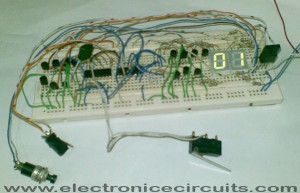4033 7 segment common anode display counter 0 to 99