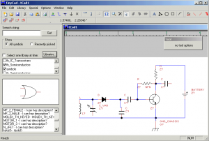 TinyCAD Circuit Drawing Software With Libraries