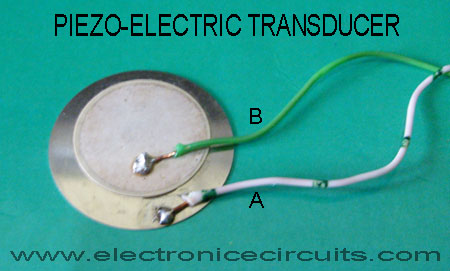 piezo-electric transducer pin configuration