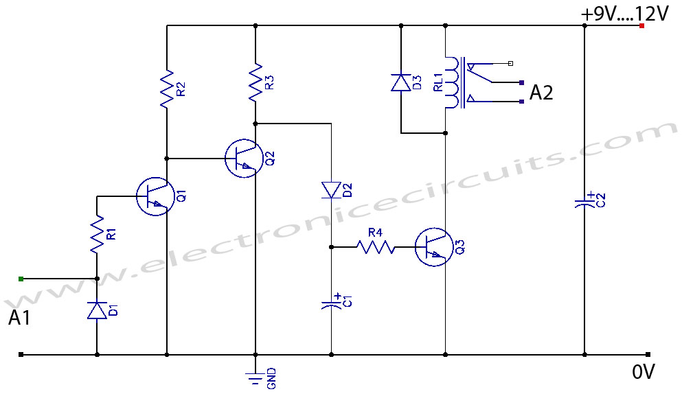 VCR Video Detector Switch Controller Circuit Diagram