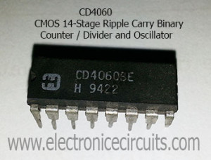 CD4060 IC CMOS 14-Stage Ripple Carry Binary Counter Divider and Oscillator CD4060BE