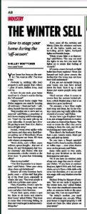 My interview with CREBNow on winter staging tips. See full article at www.CREBNow.ca
