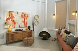 Warmth and brightness in this mid-century modern sitting room.