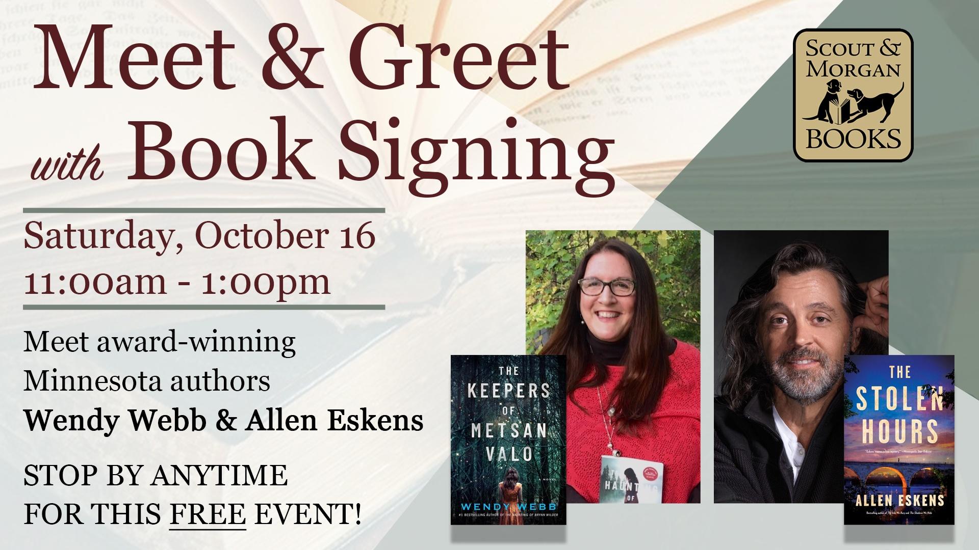 Meet Award-Winning Authors Wendy Webb & Allen Eskens