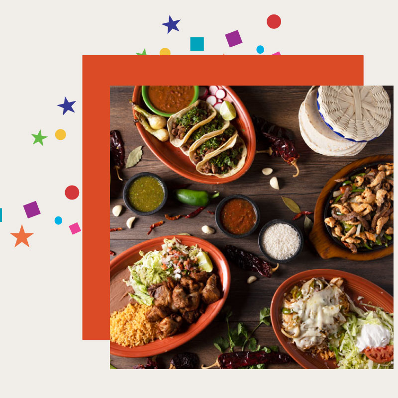 spread of mexican food