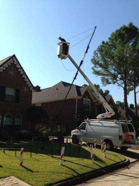Raising the Triple Mega Mast 2013