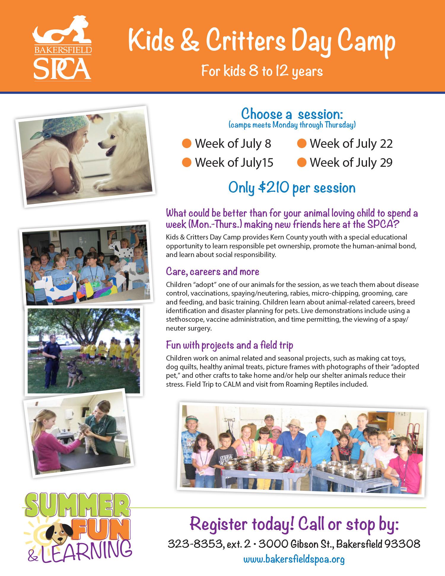 SPCA Bakersfield Summer Camp