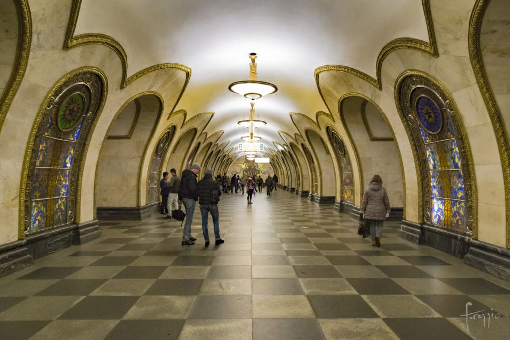 Novoslobodskaya Station | Moscow Metro | Russia
