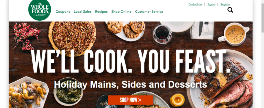 Whole Foods Market Homepage