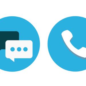 Ícones de telefone e chat