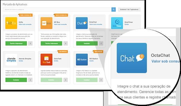 Octadesk chat atendimento online marketplace