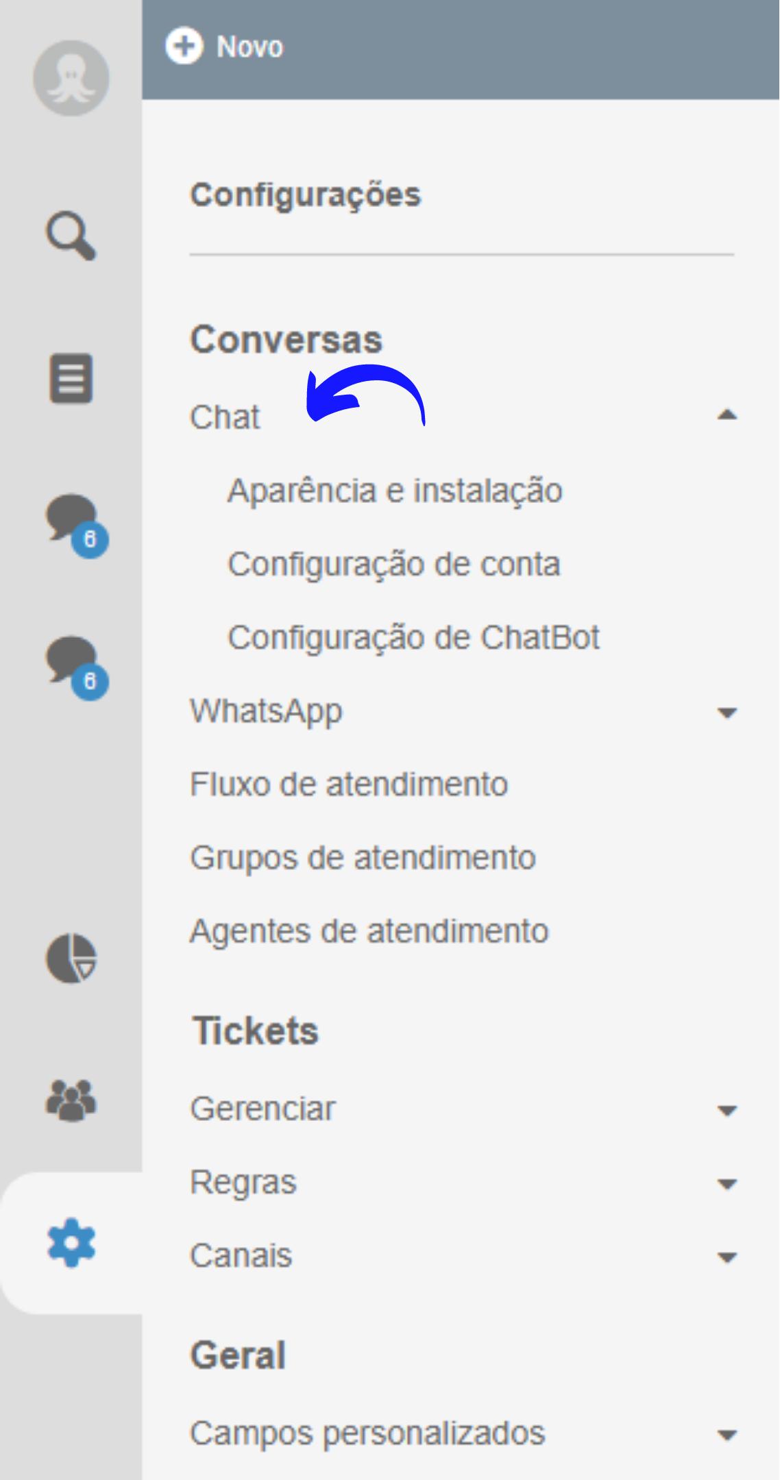 como criar um chatbot no Octadesk