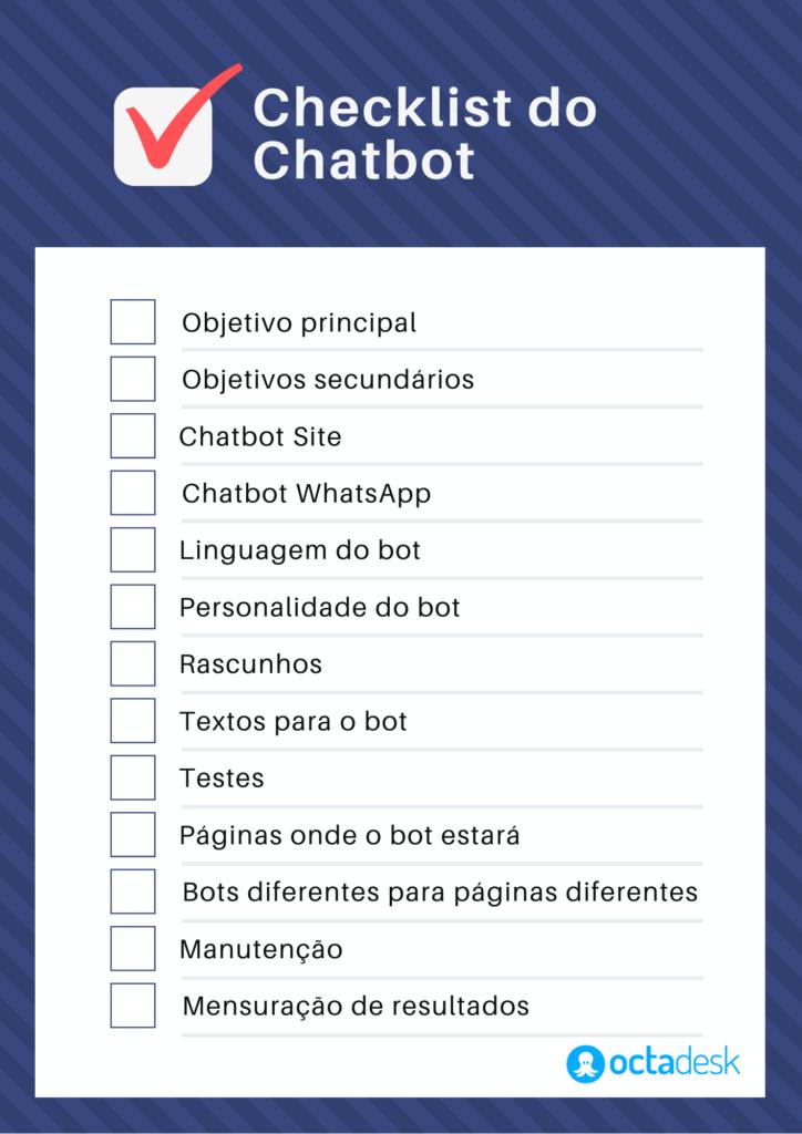 Checklist do chatbot