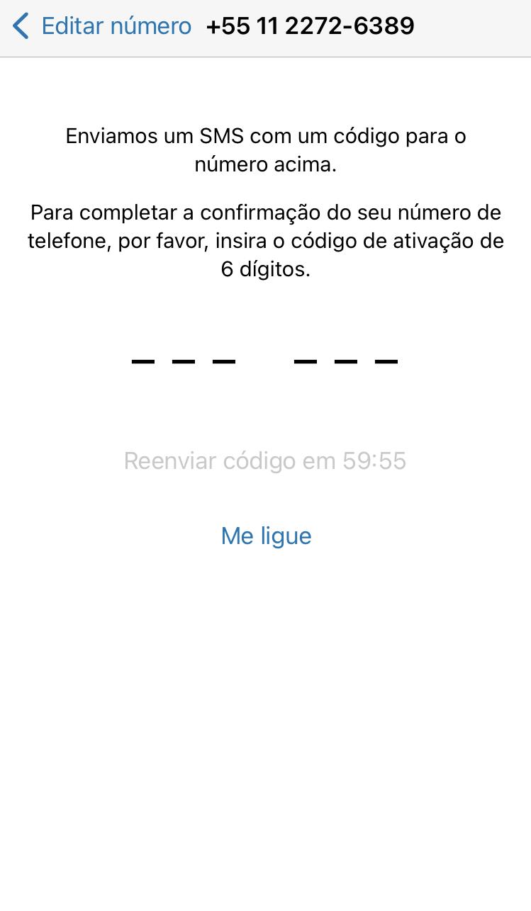 Código para colocar número fixo no whatsapp business