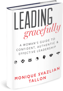 hardcover of book leading gracefully